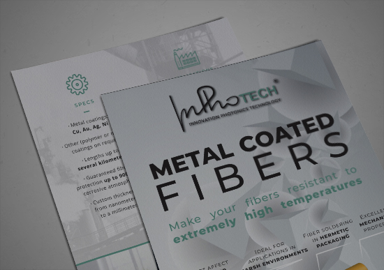 Metal coated fibers