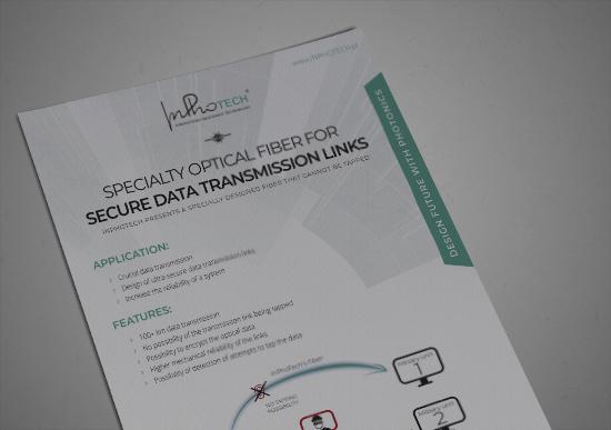 Optical fiber for secure data transmission